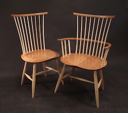 windsor chairs, cherry and ash, vermont