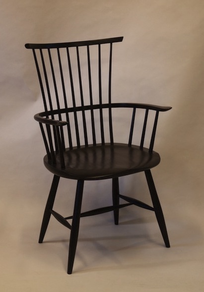 windsor arm chair, dining chair, waltham chair, milk paint