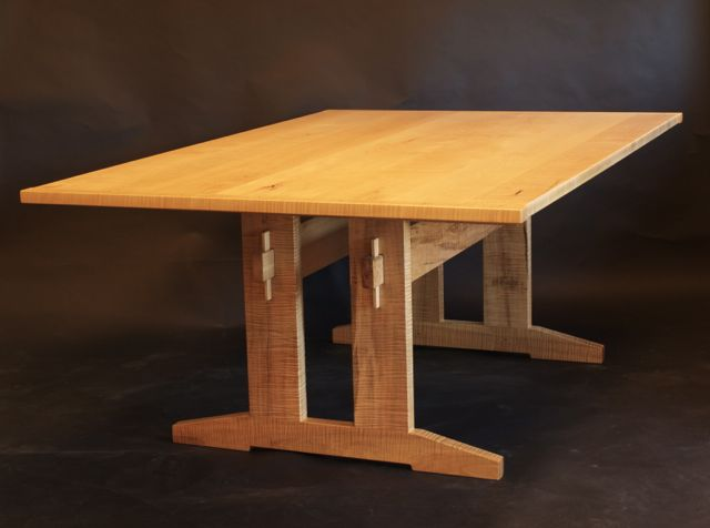 double post trestle table by Timothy Clark, www.timothlyclark.com