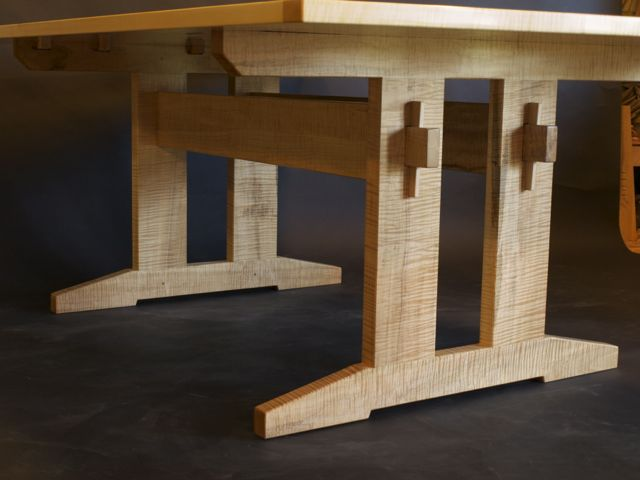 maple trestle table by Timothy Clark, www.timothlyclark.com